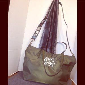 Handbags - Beautiful EUC Forest Green Zippered Tote
